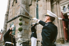 Ceremony , Military Arch, The State Room , Boston , JD Designs , Boston Wedding , Shane Godfrey Photography