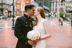 Kiss , Military Wedding , The State Room , Boston , JD Designs , Boston Wedding , Shane Godfrey Photography