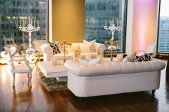 Lounge , Reserve Modern Rentals , Pink and Gold , The State Room , Boston , JD Designs , Boston Wedding , Shane Godfrey Photography