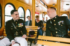 Military Wedding, Boston Trolley , The State Room , Boston , JD Designs , Boston Wedding , Shane Godfrey Photography