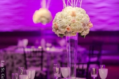Reception , Purple , Lighting , Lombardos , Boston , JD Designs , Boston Wedding , Lea St Germain Photography , barrys flowers , rentals unlimited , black and white , pinspot