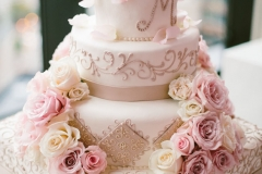 Wedding Cake , Pink , Blush , The State Room , Boston , JD Designs , Boston Wedding , Shane Godfrey Photography