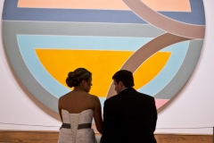 bride and groom , museum , currier museum , art , jd designs , claris photography , chic , modern