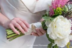 bride , broach , bridal bouquet , kinship , succulent ,  purple , pink , peonies , garden , botanical , jd designs , lea st germain photography , tower hill botanic garden , boho chic