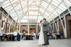 first dance , bride and groom , first look ,  garden , botanical , jd designs , lea st germain photography , tower hill botanic garden , boho chic