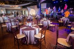 jd designs , isesboston , seaglass , music hall , salisbury , awards , event , corporate , event design , event style , rentals unlimited , kinship florals , purple , silver , band