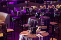 jd designs , isesboston , seaglass , music hall , salisbury , awards , event , corporate , event design , event style , rentals unlimited , kinship florals , purple , silver , lighting , drapery