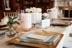 library, chic , romantic , classy , gold , ivory , teal , roses , books , person and killian photography , jd designs , the hampshire house , lynn graham designs , boston , wedding