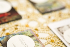 place cards , magnets , gold , museum , currier museum , art , jd designs , claris photography , chic , modern