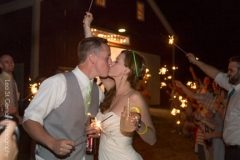 send off , bride and groom , sparklers , farm , barn , jd designs , lea st germain photography , nh wedding , rustic , kitz farm , last kiss