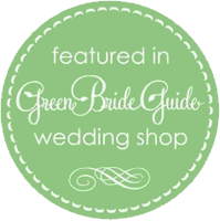 Featured on Green Bride Guide Wedding Shop